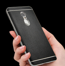 Top Quality Luxury Slenky brand high-end leather Case For Xiaomi Redmi Note 4X Pro(4G RAM,64G ROM) Mobile Phone back cover