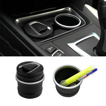 High Quality 2017 Car Ash Tray Ashtray Storage Cup With LED for BMW 1 3 4 5 7 Series X1 X3 X5 X6(China)
