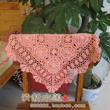free shipping cotton crochet lace table runner for wedding decor cotton sofa cabinet towel as innovative item for home cover