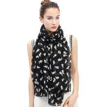 Lovely Rabbit Bunny Print Women's Large Scarf Shawl Wrap Gift Accessory Soft Lightweight for All Seasons