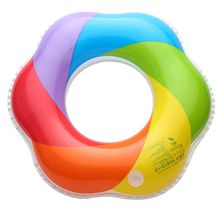 Inflatable Swimming Ring Swimming Float Swimming Circle Pool float Baby Ring Inflatable Mattress Rings for children Color Flooat(China)
