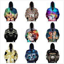 New 3d Unicorn/Animal print men polo hoodies tracksuits sport suit mannen kleding sudadera element veste homme sueter masculino