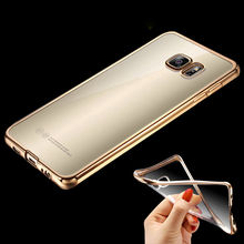 For Samsung S7 Edge Royal Luxury Plating TPU Phone Case For Samsung Galaxy S8 S8 plus S7 S6 Edge S5 A5 Soft Clear Silicon Cover