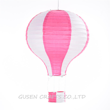 20pcs/lot 12 inch Multicolor Rainbow Striped Hot Air Balloon Paper Lantern Wishing Lanterns for Birthday Wedding Party Decor(China)