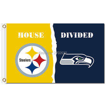 Pittsburgh Steelers Flag Vs Seattle 2 World Series Football Team 3ft X 5ft Steelers And Seattle 2 Banner Flag(China)