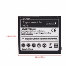 2017 New Phone Replacement  Rechargeable 1350mAh Battery For HTC HD2 Touch HD2 T8585 HTC LEO  Bateria Hot Sale