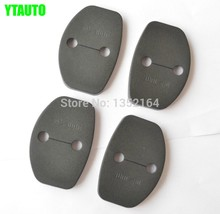 Auto door lock buckle cover,shock absorber pad for Skoda Octavia 2007-2013,4pcs/lot,free shipping(China)