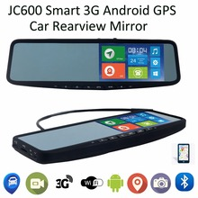 Jimi JC600 Smart Car interior rear view mirror 5inch Clip on universal strap 3G Android GPS Navigation GPS Tracker BT 1080P DVR