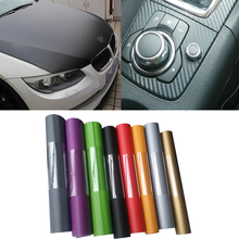 Car Styling Accessory 127*30cm Carbon Sticker For Auto Motorcycle car-covers Carbon Film Fiber Vinyl For vw renault opel mazda 6