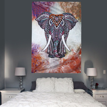 Indian Mandala Tapestry Home Decorative Wall Hanging Tapestries Beach Towel Elephant Totem Print Bedspread Table Cloth(China)