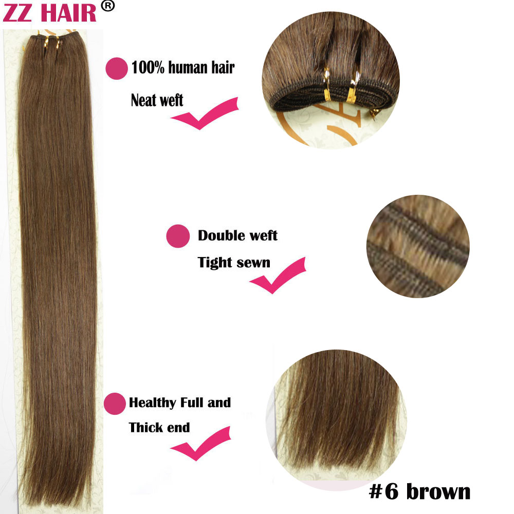 Free shipping 16182022242628100g/pcs wholesale silky soft indian remy Human Hair weft/ weaving #6<br><br>Aliexpress