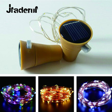 Jiaderui 1m 10LED Solar Lamps Copper Wire Silver Wire Fairy String Light Waterproof Garden Xmas Wedding Party Outdoor Decoration