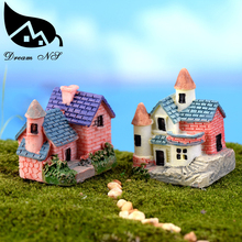 Miniature European country villa house housing micro landscape creative arts and crafts resin decoration decoration miniature