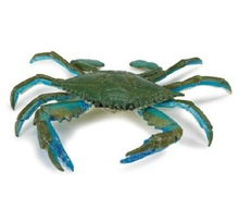 Kindergarten Teaching Aids Blue Crab Model Marine Life Model Toys for Children Collection Animal Model Photography Props