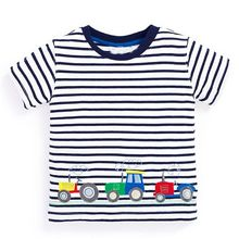 Baby Boys T shirts for Kids Clothes 2017 Brand Children Clothing Boys T-shirt with Animal Striped Boys Summer Tops Clothes
