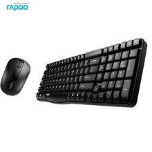 Rapoo X1800S Multimedia Wireless Keyboard Mouse Combos with Waterproof Compact Design Silent Mice for Microsoft Windows PC Game(China)
