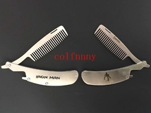 100pcs/lot Engraved Your Logo Anti Static Stainless Steel Folding Comb, Can Be Use As A Bottle Opener