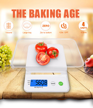 Hot Sales 3000g/0.1g Kitchen Scale Home Accurate Digital Electronic Balance Plastic Measure Tools Cooking Food Grain LCD Display(China)
