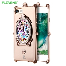 FLOVEME Luxury Metal Rope Diamond Mirror TPU Cell Phone Cases For iPhone 6 6S 6Plus iPhone7 Case For iPhone 7/7Plus Phone Coque(China)