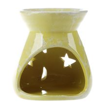 Ceramic Fragrance Oil Burners Lavender Aromatherapy Scent Candle Essential Gift Yellow(China)
