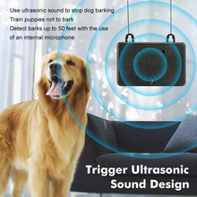 Mini Outdoor Anti Barking Device Ultrasonic Dog Bark Control Sonic Deterrents Silencer Tools E2S(China)