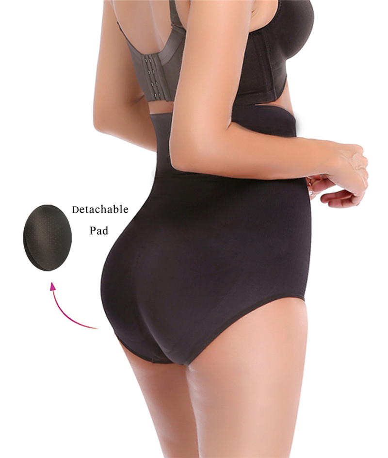 NINGMI Women Paded Hip Enhancer Butt Lifter Waist Trainer Shapewear Wedding Body Modeling Tummy Control Panties Slimming Shaper 4