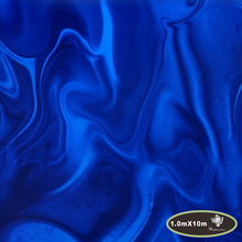 Horrible Aqua Blue fire hydrographic film water transfer printing film,hydro dipping,100cm*10m HTMA521-1