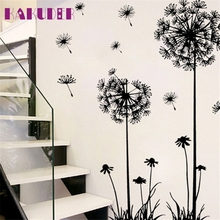 KAKUDER Dandelion bedroom Living room Wall Sticker Design PVC Decals adesivos de parede poster stickers for kids rooms(China)