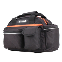 B-SOUL 40 * 18 * 21.5cm Fishing Bag Multi-function Fishing Tackle Bag Waterproof Canvas Waist Fishing Lure Bag Shoulder 14L