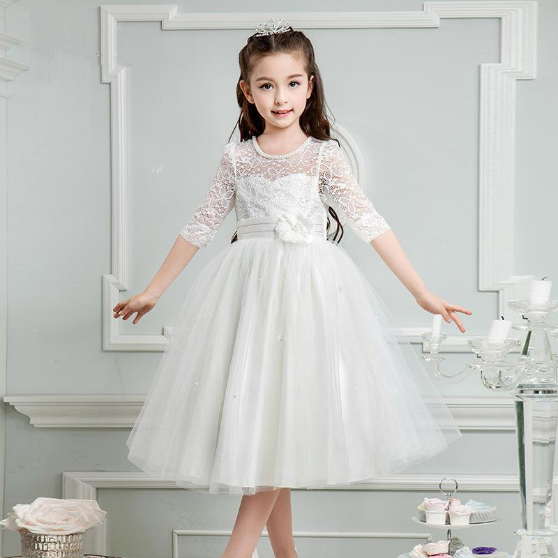 Babys Brithday Party Dress Princess Dresses Kids Lace Floral TUTU Dress Summer Half Sleeve Costumes Clothes For Babys Girls <br><br>Aliexpress