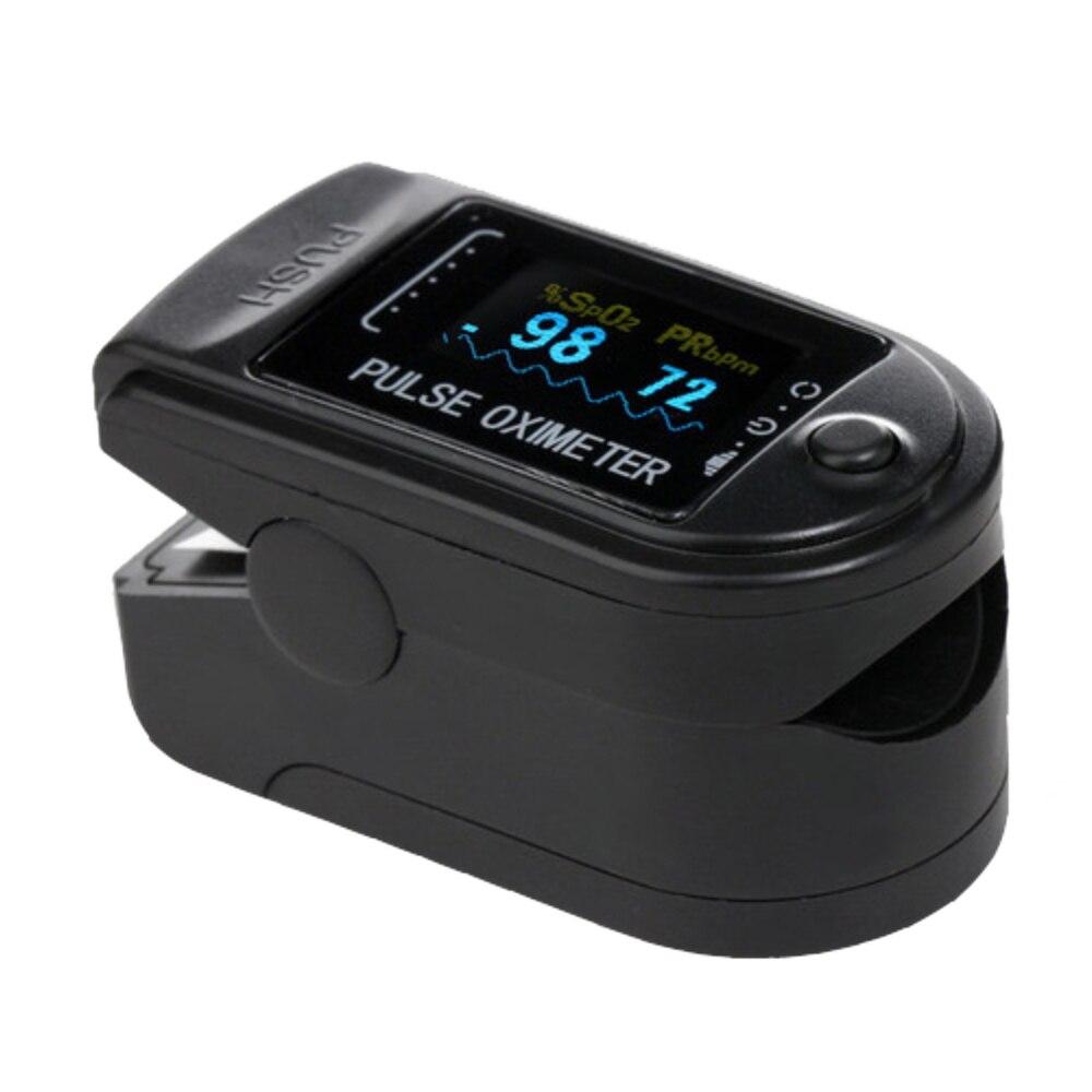 OLED Display SpO2 PR with CE FDA Fingertip Pulse Oximeter black Color Pulsioximetro Oled Heart Rate Monitor<br>