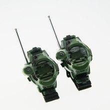 1 Pair Toy Walkie Talkies Watches Walkie Talkie 7 1 Children Watch Radio Outdoor Interphone Toy Chirlden YH-17