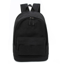 Korea Style Fashion Backpacks for Men and Women Solid Preppy Style Soft Back Pack Unisex School Bags Big Capicity Canvas Bag(China)