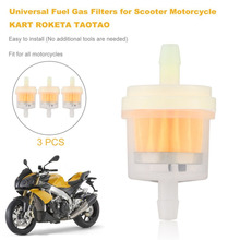 3 PCS Universal Fuel Gas Filters oil filter for Scooter Motorcycle for KART for ROKETA for TAOTAO