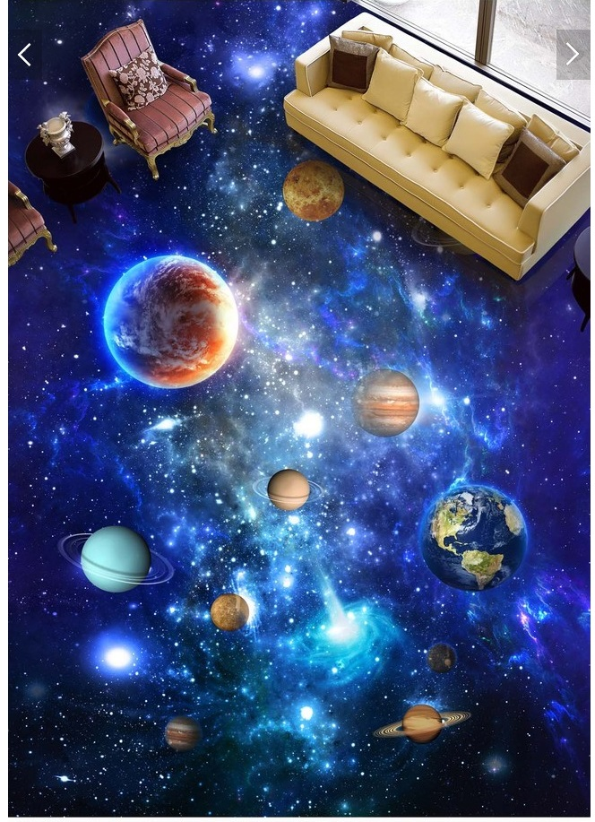 3d pvc flooring custom photo mural picture wall sticker The universe galaxy sky painting room wallpaper for walls 3d<br>