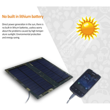 Mini Portable 3W 5V Polycrystalline Solar Panel USB Charging Power Bank Solar Cells Fast Charging For Phones Mp3 PC GPS PSP(China)