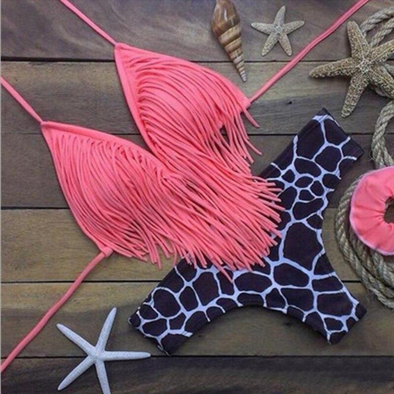 Bikini swimsuit 2017 swimwear maillot de bain feme women sexy triangle bikinis set with tassels bathing suit beachwear XC003<br><br>Aliexpress