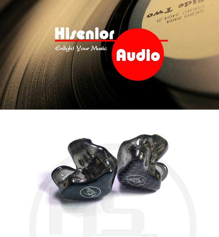 Hisenior T6 12Units Balanced Armature CIEM Custom-Fit In Ear Monitor Noise Cancelling Earphone DHL/FEDEX Free Shipping