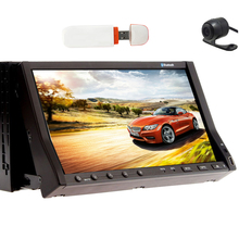Auto MP4 PC GPS Radio MP5 Universal Head Unit Accessory FM Autoradio Logo Touchscreen DVD Player Car Stereo Map+CAM+3G