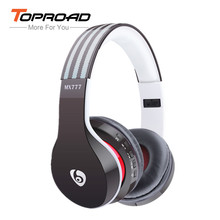 TOPROAD MX777 Bluetooh Headphones with Microphone Wireless Stereo Handband Support TF FM Radio Gaming Headset auriculares(China)