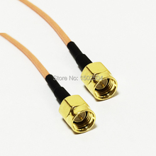 "New SMA Male Plug Connector Switch SMA Male Plug Convertor RG316 Cable 15CM 6"" Adapter"