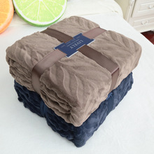 Queen Size Plaid Solid Color sofa/bedding Throws Flannel Blanket 200*230cm Winter Warm Bedsheet Brand Quality Super Soft
