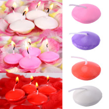 NEW! 10pcs/lot 4 Pure Colors Floating Candles Round Shape Floating Candle Home Party Decoration Drop Shipping Dia 3.5cm(China)