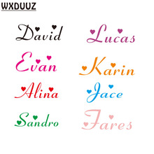 WXDUUZ Customized Personalized Name Children Art Decor Nursery Kids RoomVinyl Sticker Decal Wall Art Sticker C09