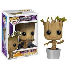 J.G Chen Genuine Brand Funko POP Guardians Of The Galaxy Toy Figure DANCING GROOT Bobble Head/Marvel Groot 10CM