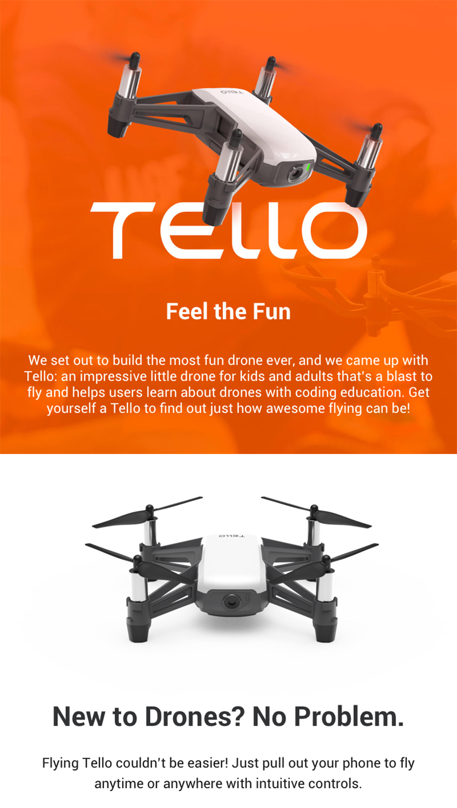 In Stock! DJI Tello Mini Drone 720P HD Transmission Camera APP Remote Control Folding Toy FPV RC Quadcopter Drones with EZ Shots1_01