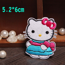 FS (10pc/lot) Hello Kitty Cartoon cloth embroidered decorative patch iron on patches applique motif embroidery patch iron on