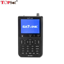 New Satlink Satellite receiver WS-6906 3.5 inch LCD DVB-S2 1080p FTA Digital Meter Satellite Finder 3000mA battery(China)
