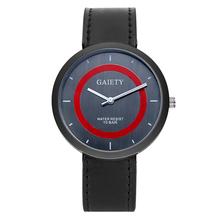 GAIETY Luxury Black Wrist Watch For Men Leather Strap Clock Fashion Dress Sport Men's Watch Cheap G231