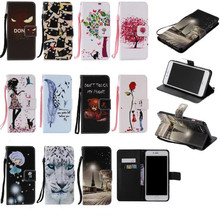 Cartoon Wallet Leather Case For iPhone 4 5 S 5C 6 6S 7 Plus For Samsung Galaxy Grand Prime G530 G360 S3 S4 S5 Mini S6 Edge J5 J7